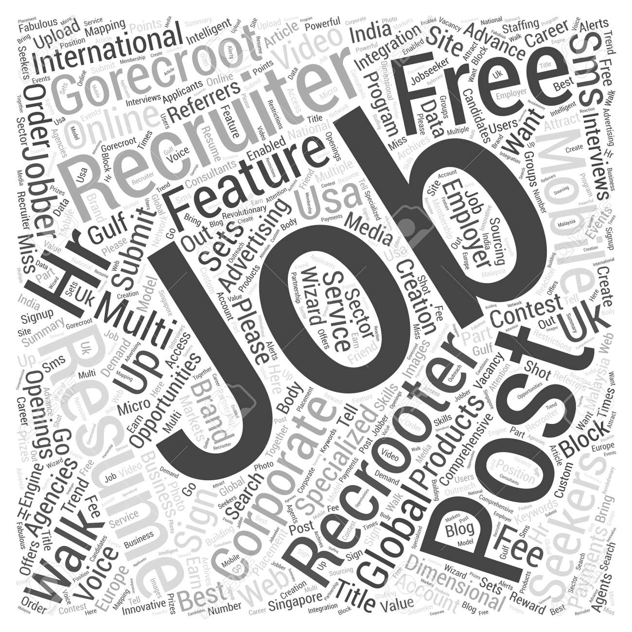 GoRecroot International Jobs Recruiters Post Free Job Openings.. Stock Photo, Picture And Royalty Free Image. Image 72892725.