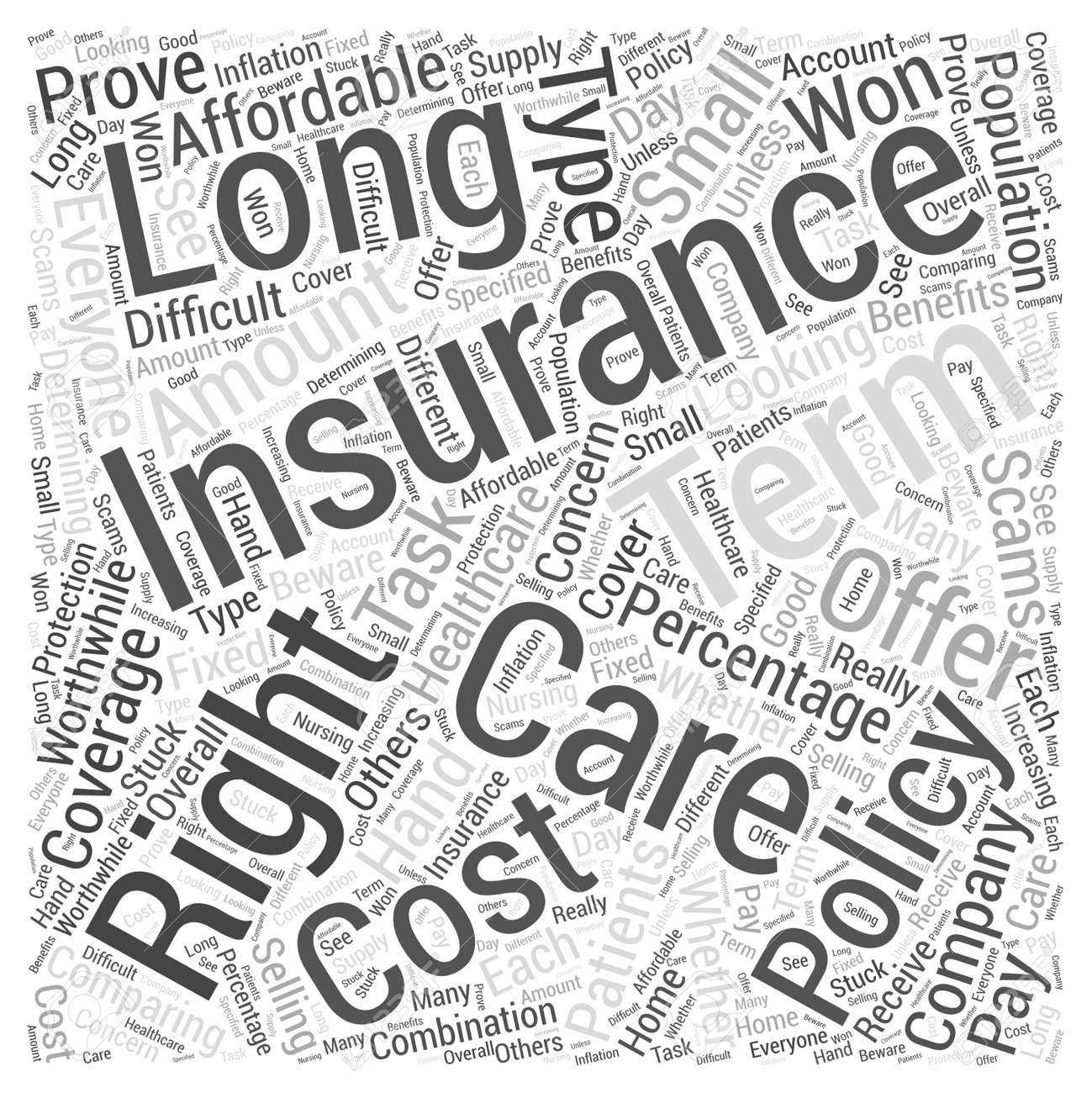 healthcare for long term patients is this insurance right forhealthcare for long term patients is this insurance right for you word cloud concept stock photo