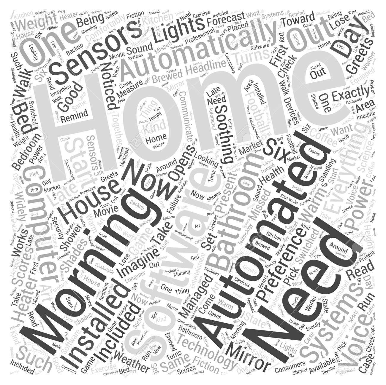 home automation software word cloud concept royalty free cliparts
