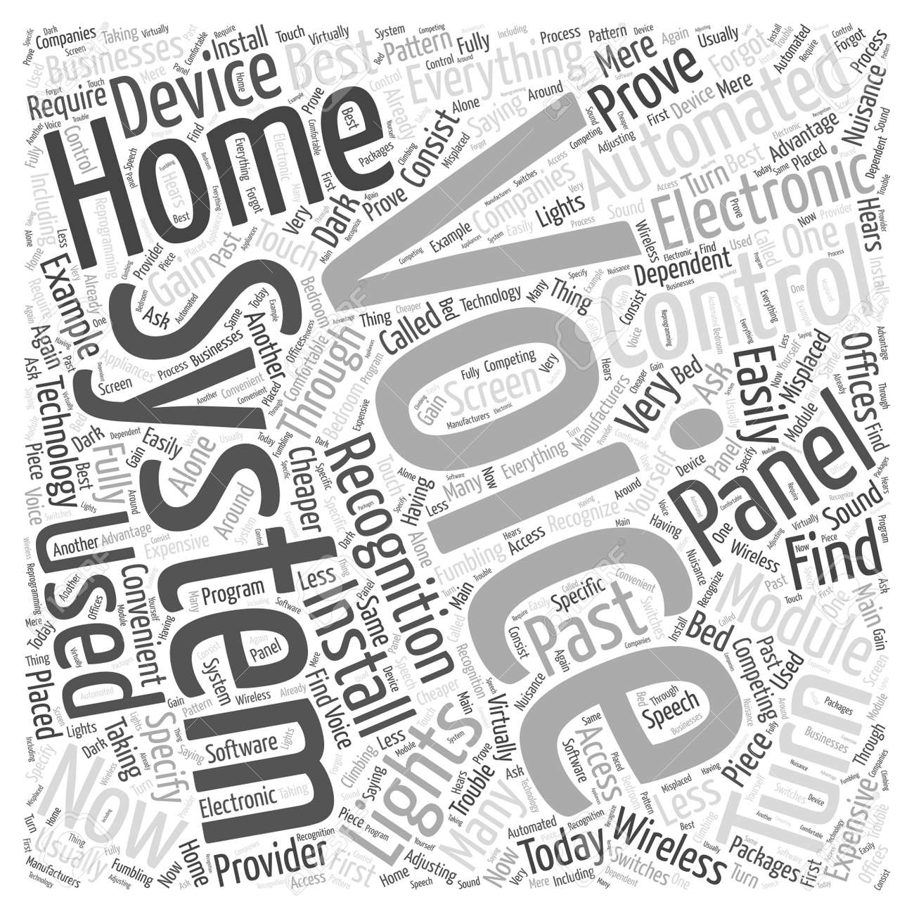 Home Automation Voice Recognition Word Cloud Concept Royalty Free ...