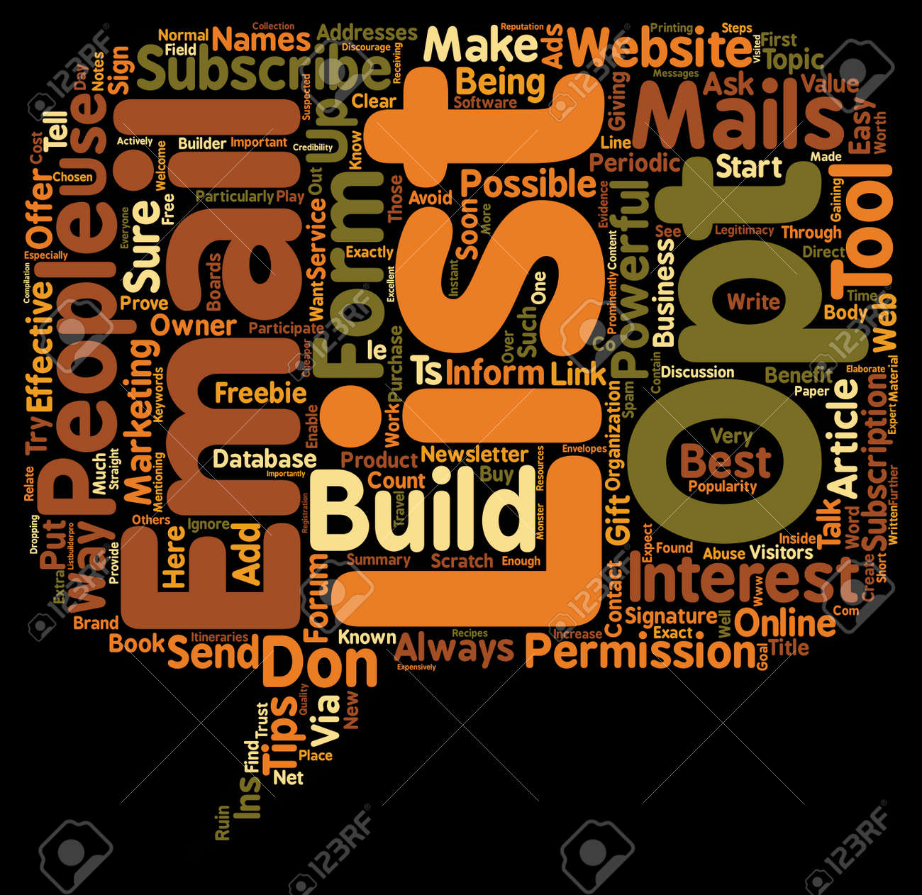 How To Build An Opt In Email List From Scratch text background wordcloud concept - 73221874