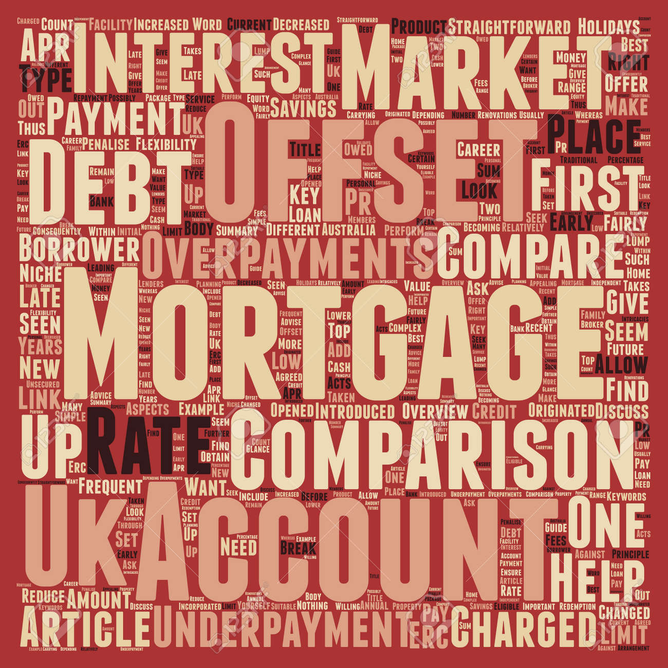 how to perform an offset mortgage comparison text background