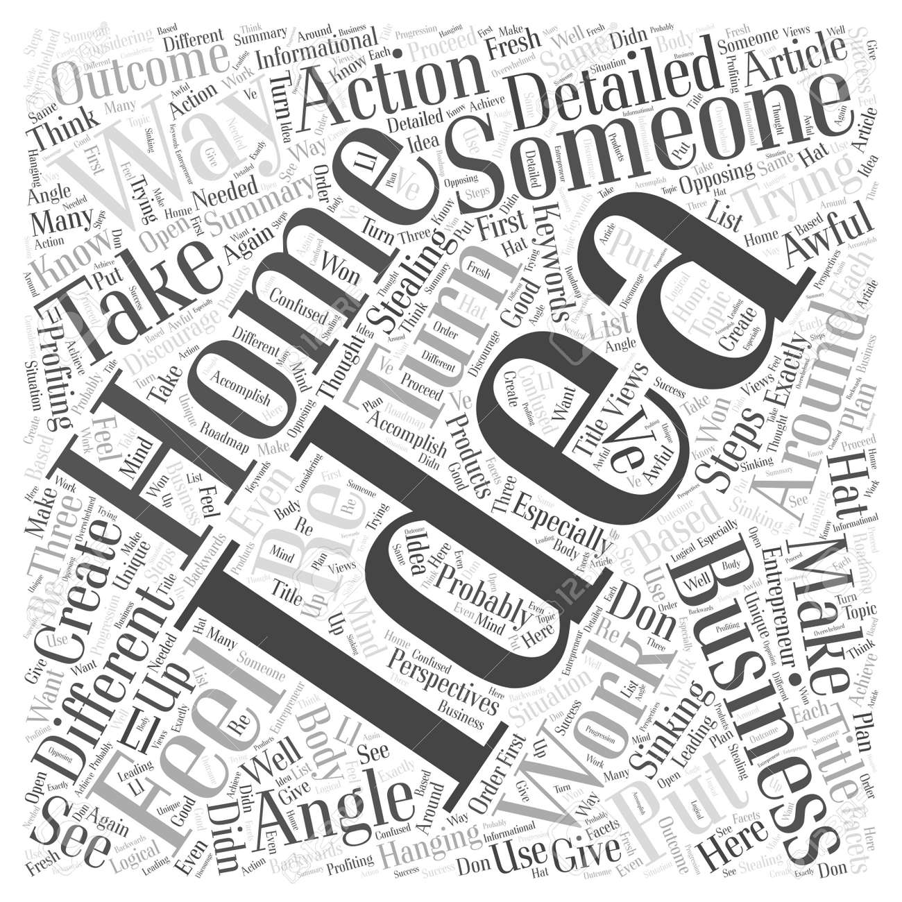 Is Someone Stealing Your Home Business Ideas Word Cloud Concept ...