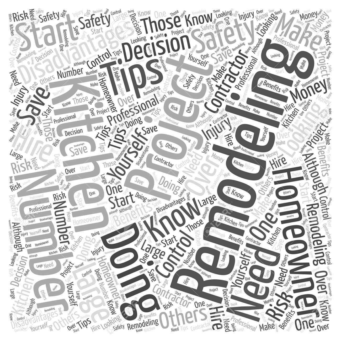 Kitchen Remodeling Safety Tips You Need To Know Word Cloud Concept ...