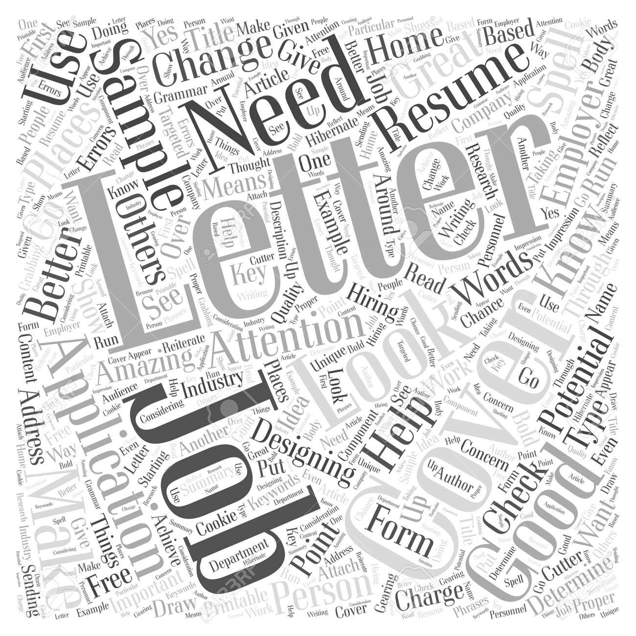 Carta De Presentación De La Solicitud De Empleo Ejemplo De Concepto ...