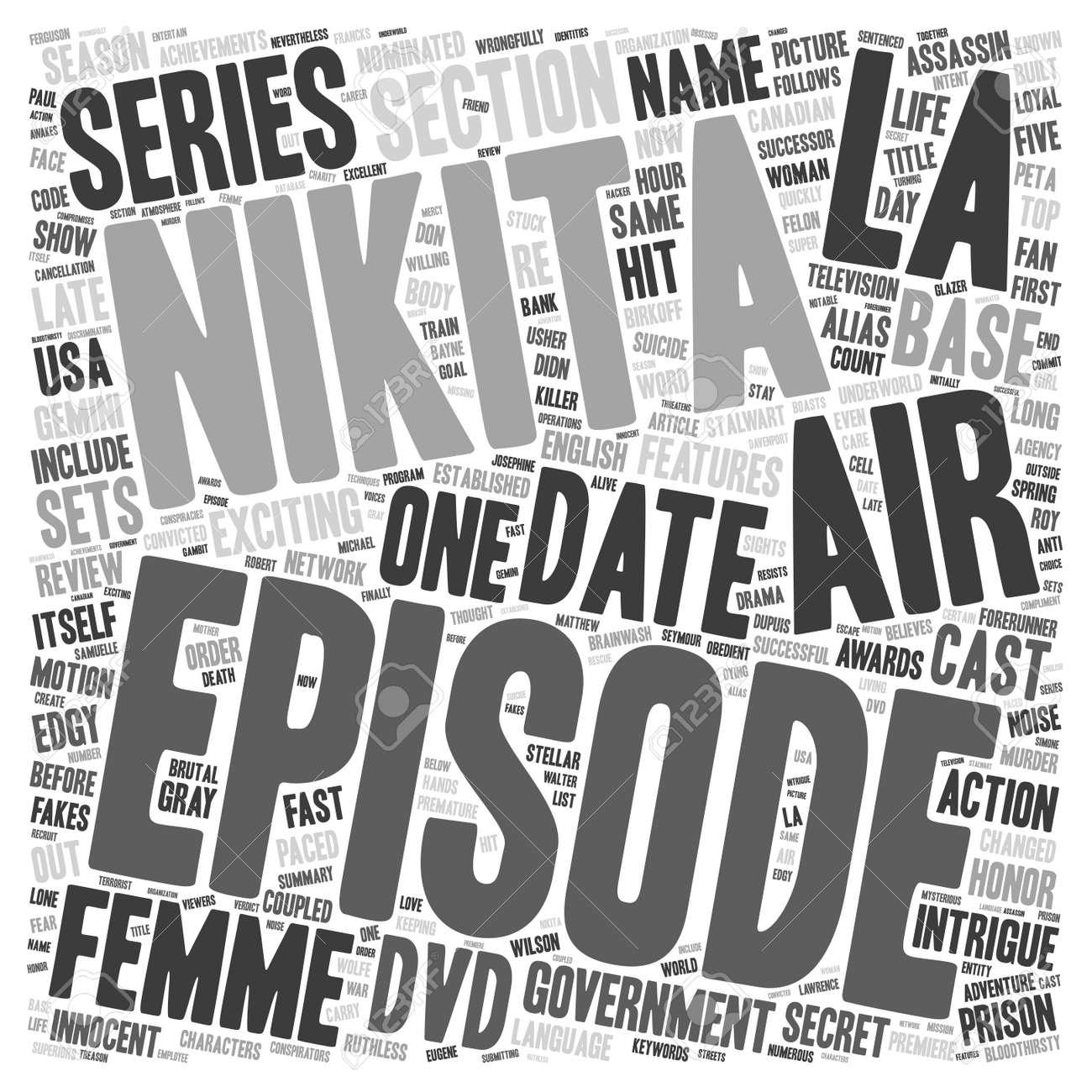 La Femme Nikita DVD Review text background wordcloud concept