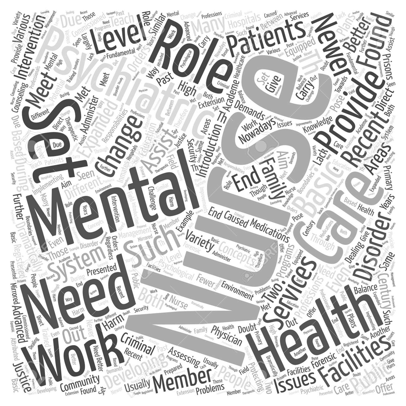 Mental Health Nursing Word Cloud Concept Royalty Free Cliparts