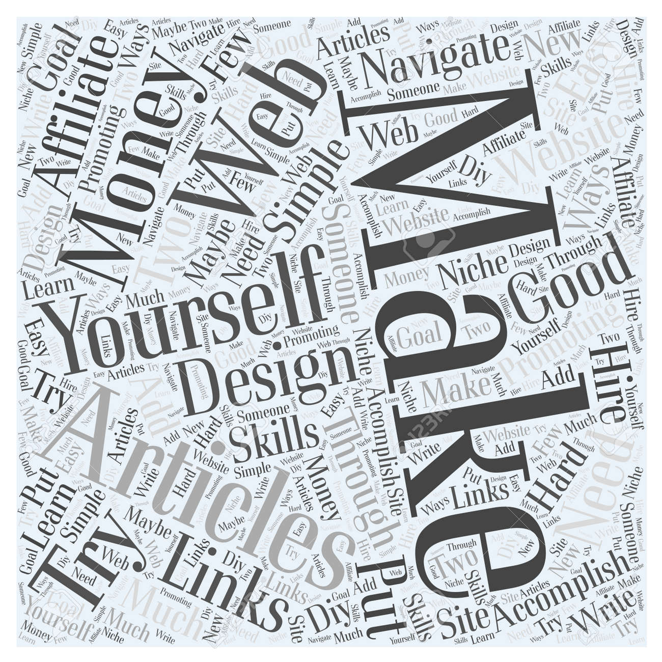 Making money with articles do it yourself web design word cloud making money with articles do it yourself web design word cloud concept stock vector 73564853 solutioingenieria Choice Image