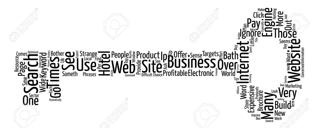 Just An Expensive Electronic Brochure Or A Profitable Site text background word cloud concept Stock Vector - 73496778
