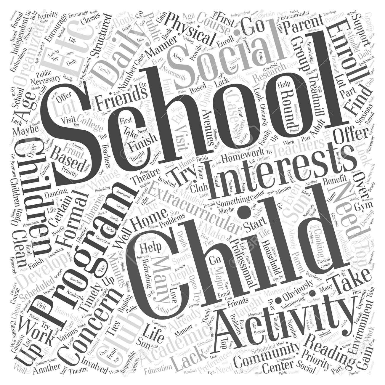 a home based after school program word cloud concept royalty free