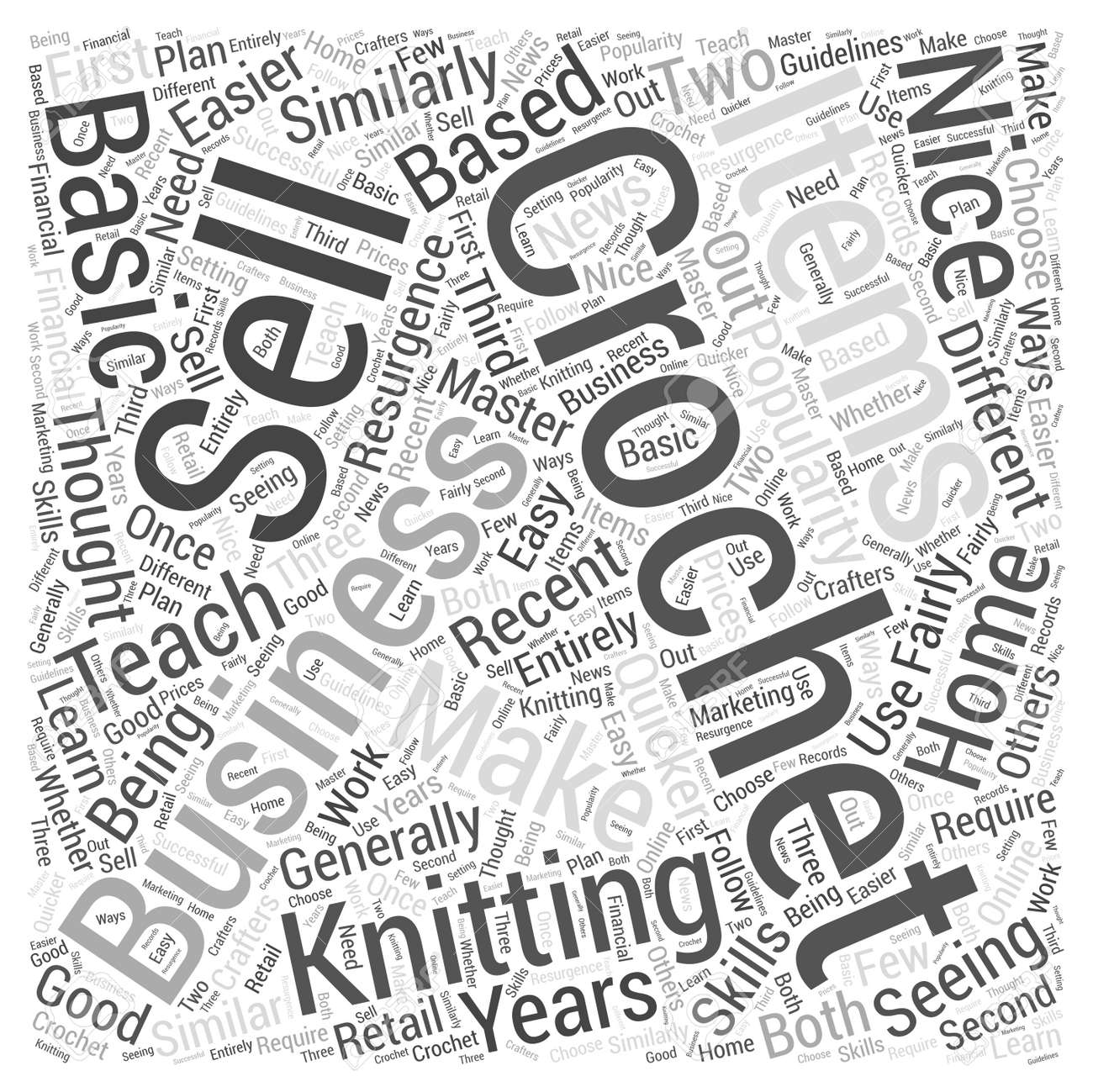 Crochet As A Home Based Business Word Cloud Concept Royalty Free ...