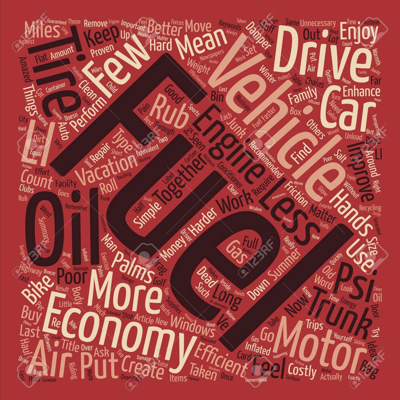 How To Get Better Fuel Economy Text Background Word Cloud Concept ...