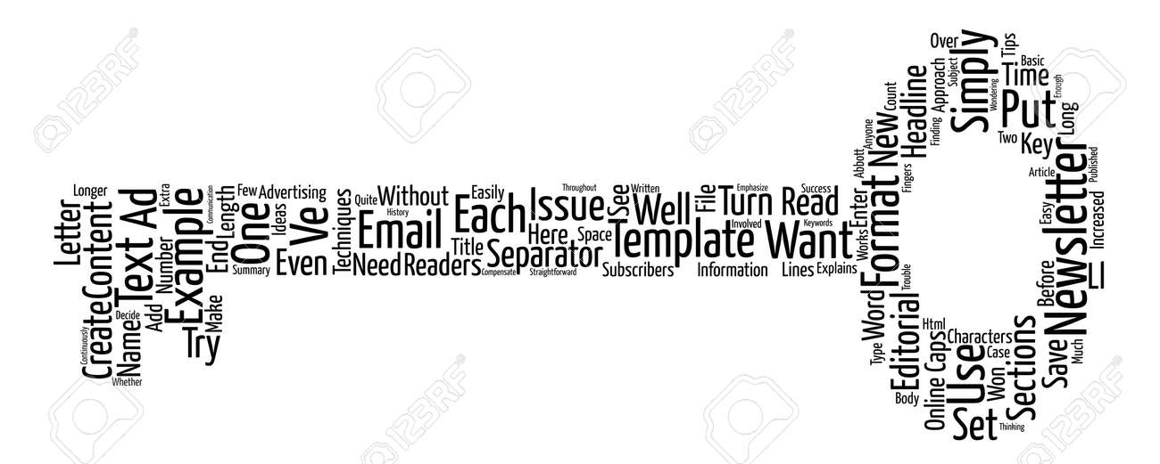 Email Newsletter Templates Text Text Background Word Cloud Concept - Black and white newsletter templates