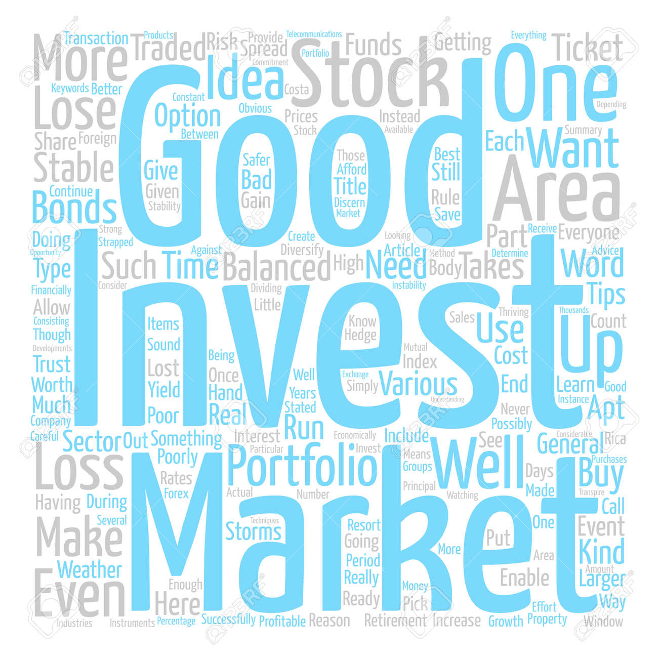 how to make a well balanced investment portfolio word cloud concept
