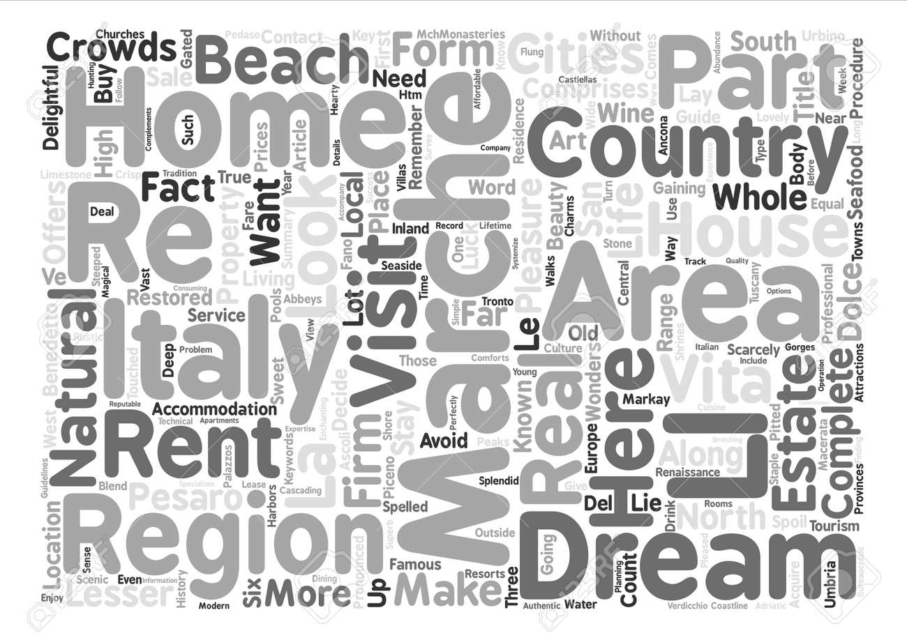 Marche Country Homes Your Dream Home In Italy Text Background ...