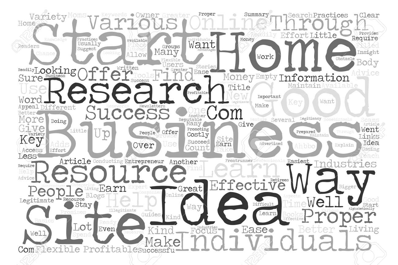 How To Research Home Business Ideas Word Cloud Concept Text ...