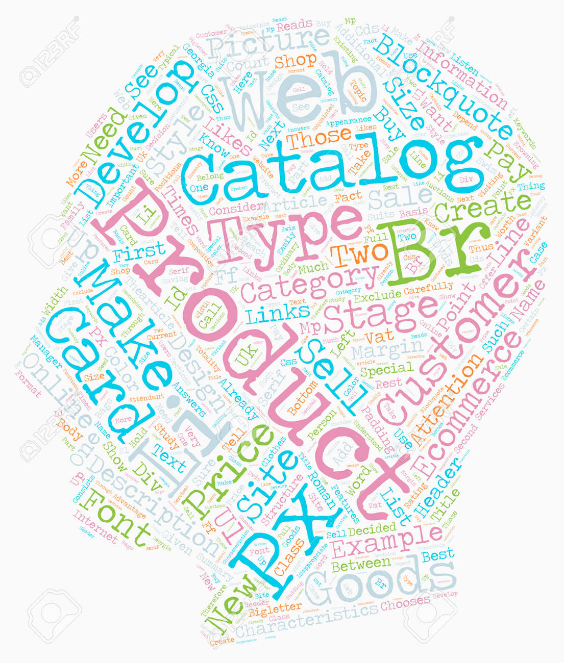 how to create an online ecommerce catalog text background wordcloud