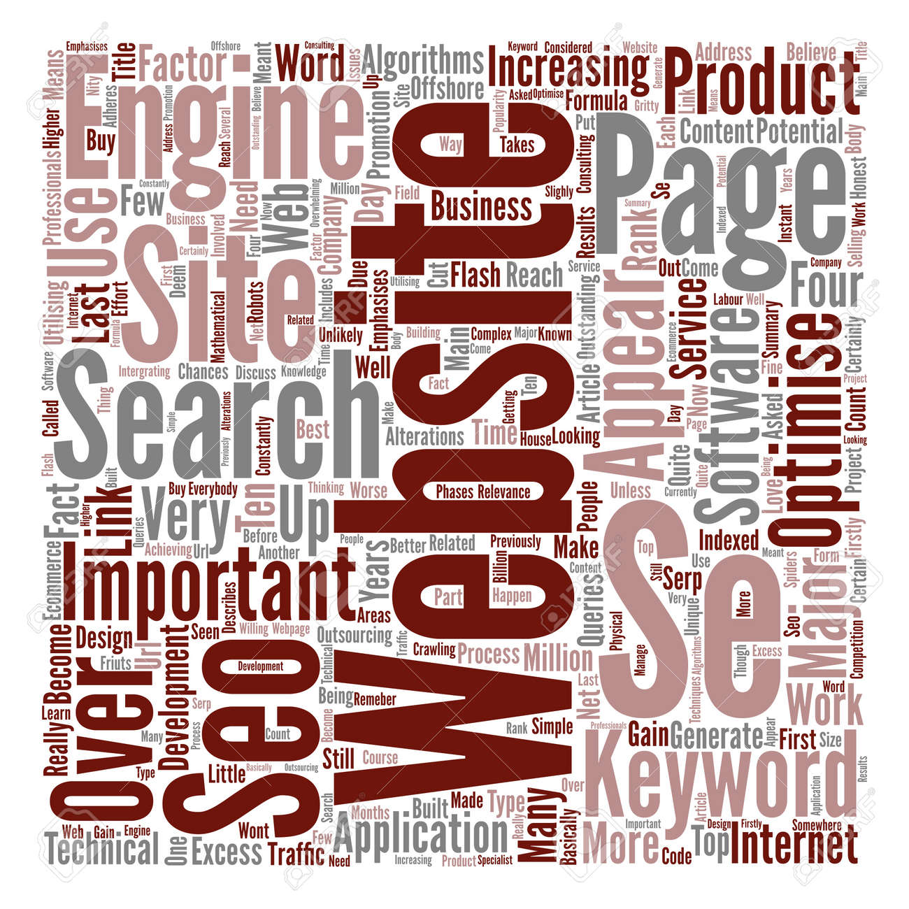 What is SEO Word Cloud Concept Text Background