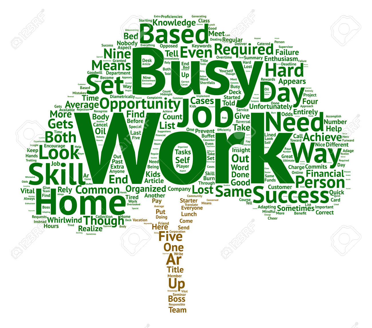 Work At A Home Based Business Opportunity Skill Set Text Background