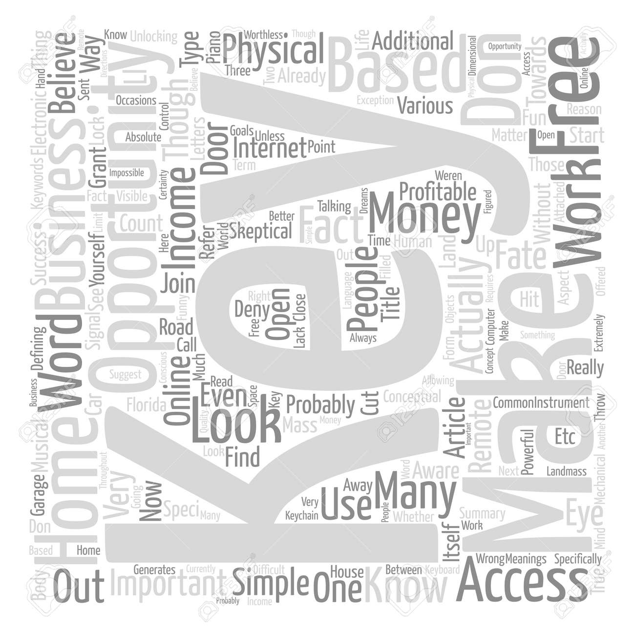 Make Money With Free Home Based Business Opportunities Word Cloud ...