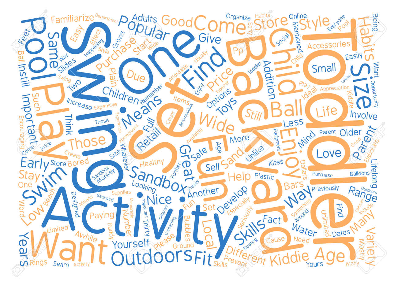 Beliebte Hinterhof Aktivitaten Fur Kleinkinder Word Cloud Konzept