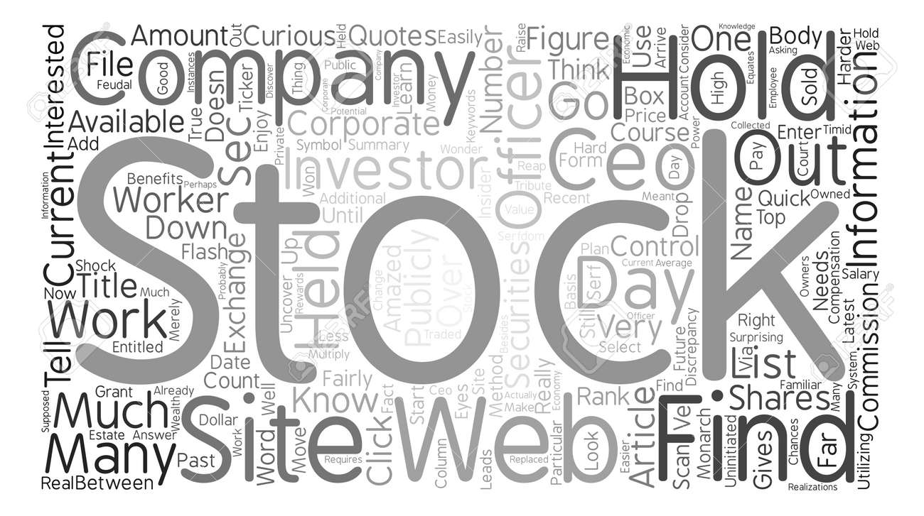 How To Find How Much Stock A Ceo Holds Word Cloud Concept Text