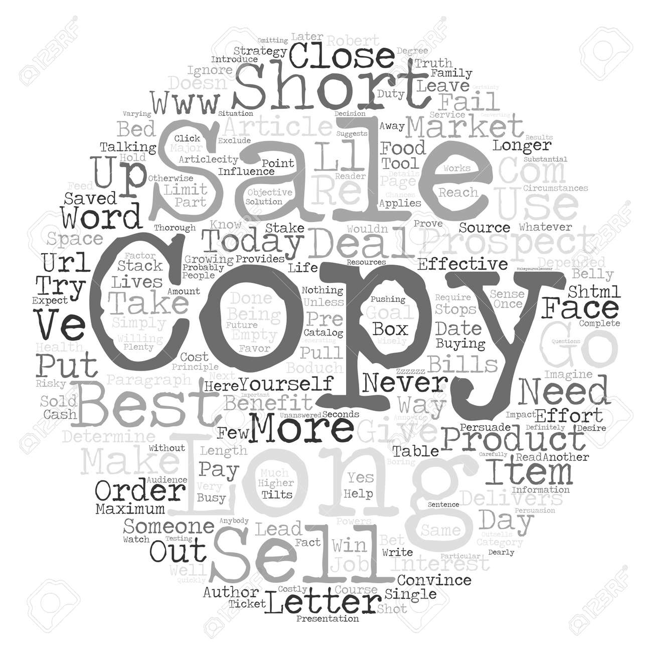 Short or long copy the best sales letter strategy and why text short or long copy the best sales letter strategy and why text background word cloud concept thecheapjerseys Gallery