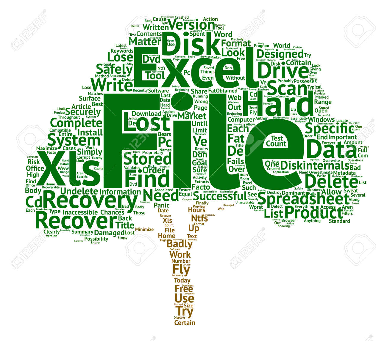 Recover Deleted Excel Spreadsheets text background word cloud concept - 74200433