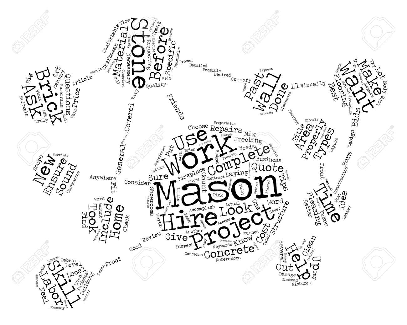 Some Great Tips To Help You Before You Hire A Mason text background word cloud concept - 74200467