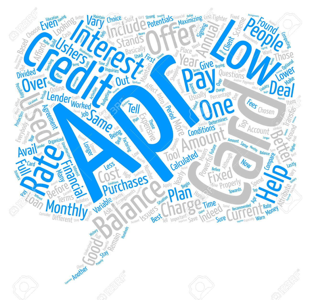Low apr credit card Word Cloud Concept Text Background - 74201651
