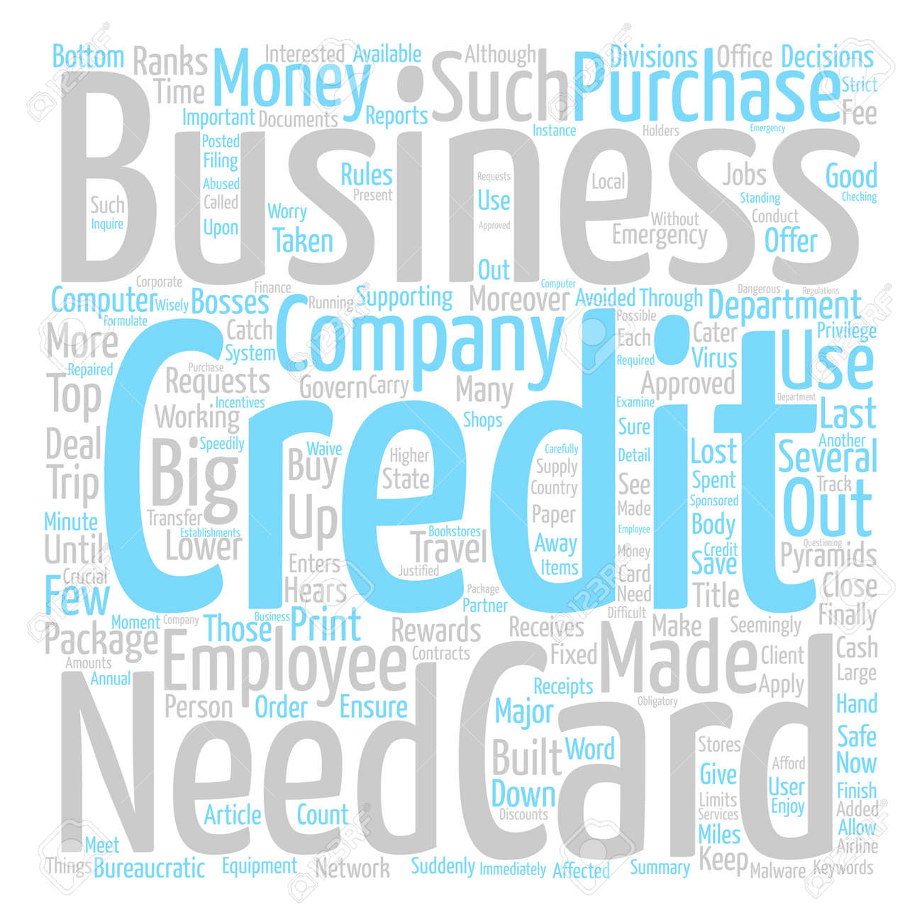 Rewards For Big Jobs The Business Credit Card Text Background ...