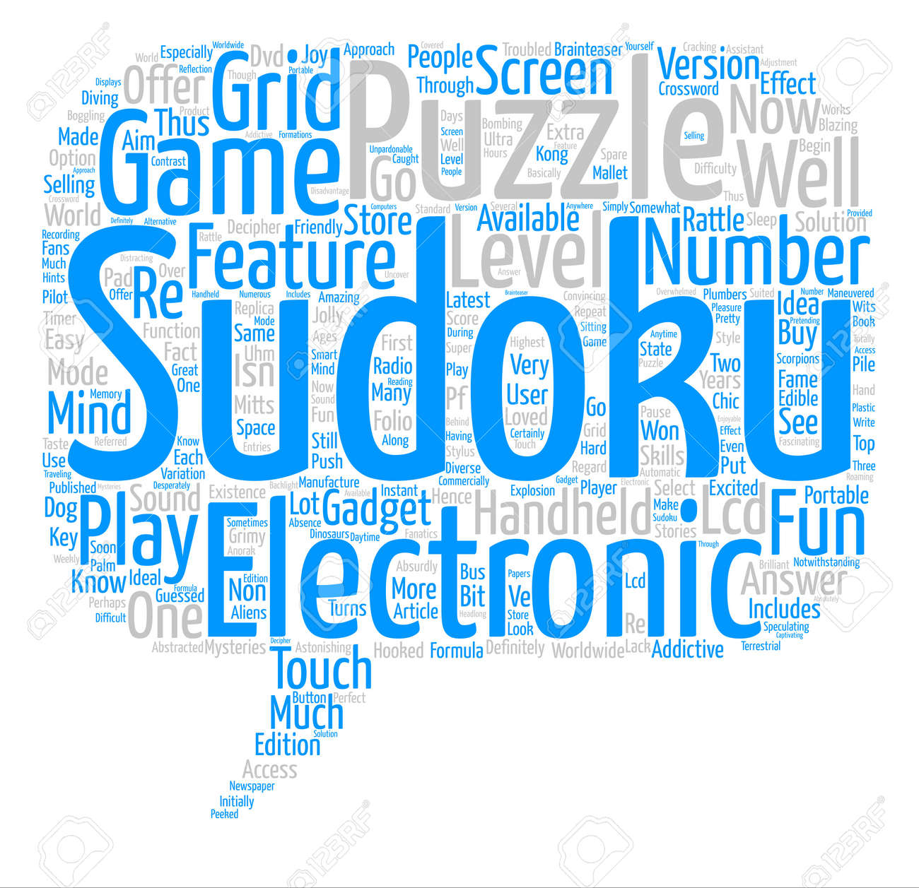 electronic sudoku word cloud concept text background royalty free