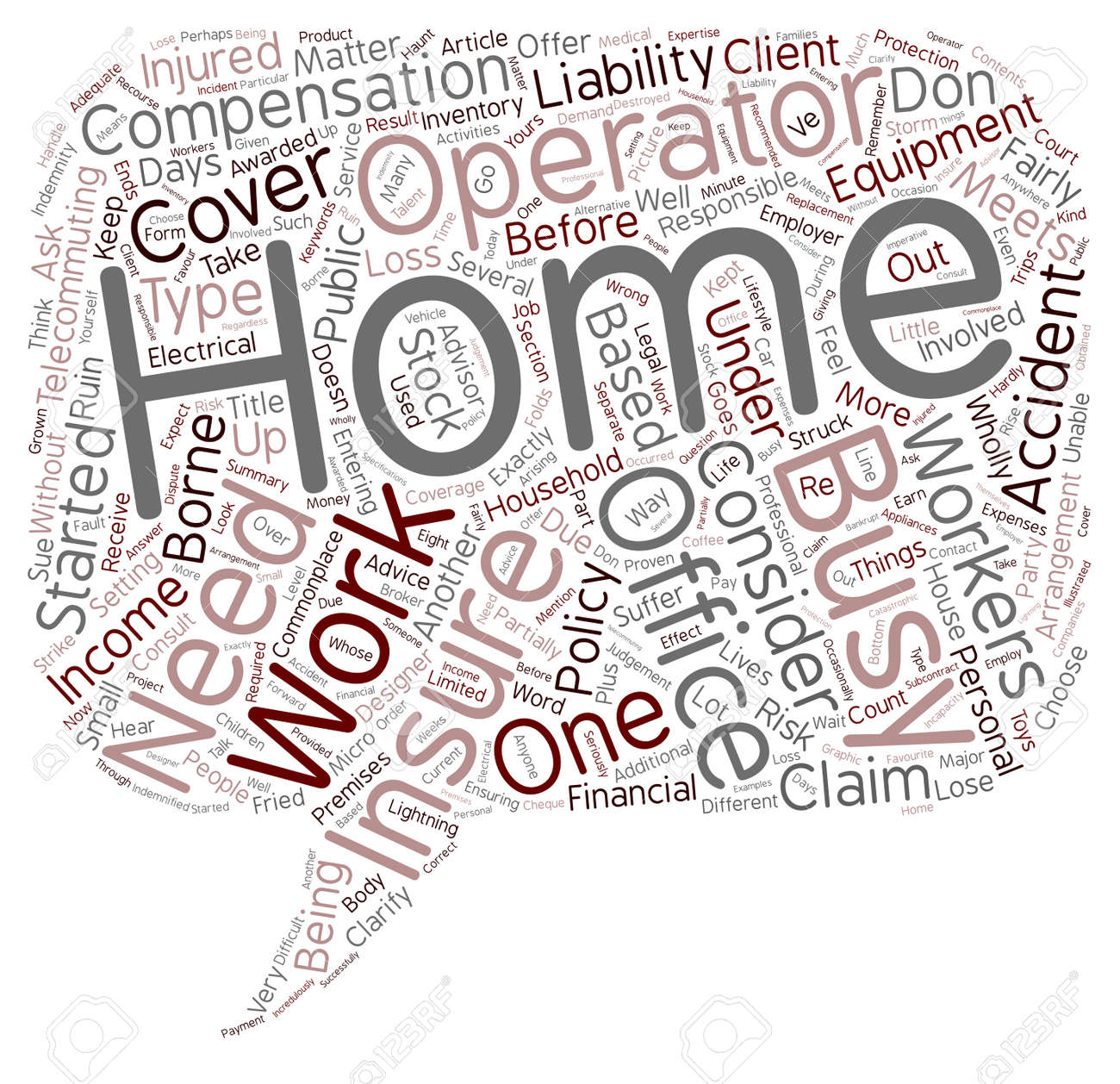 Insurance Matters To A Home Office Text Background Wordcloud ...