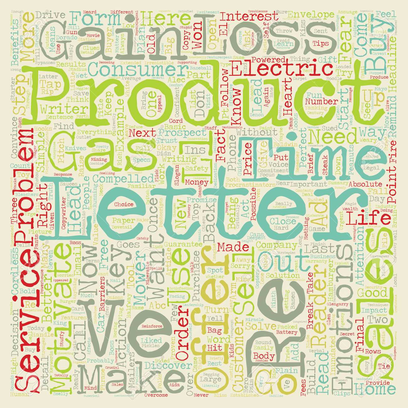Sales Letters That Sell Text Background Wordcloud Concept Royalty