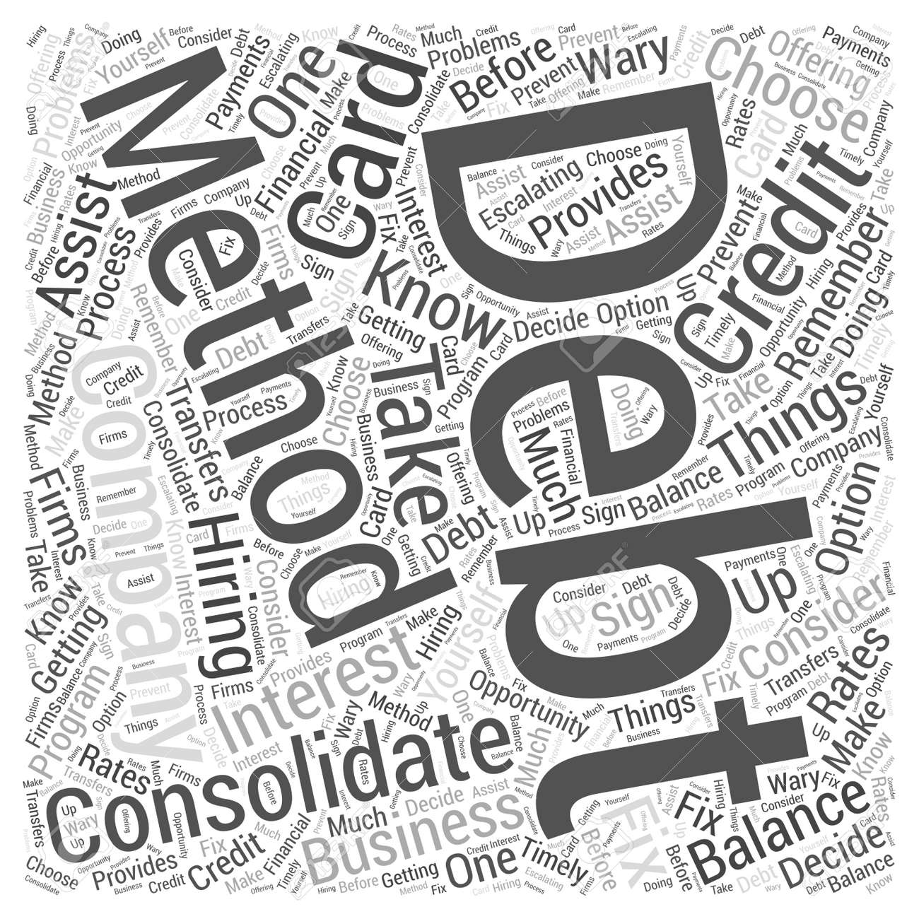 What you should know about business credit card debt consolidation vector what you should know about business credit card debt consolidation word cloud concept reheart Gallery