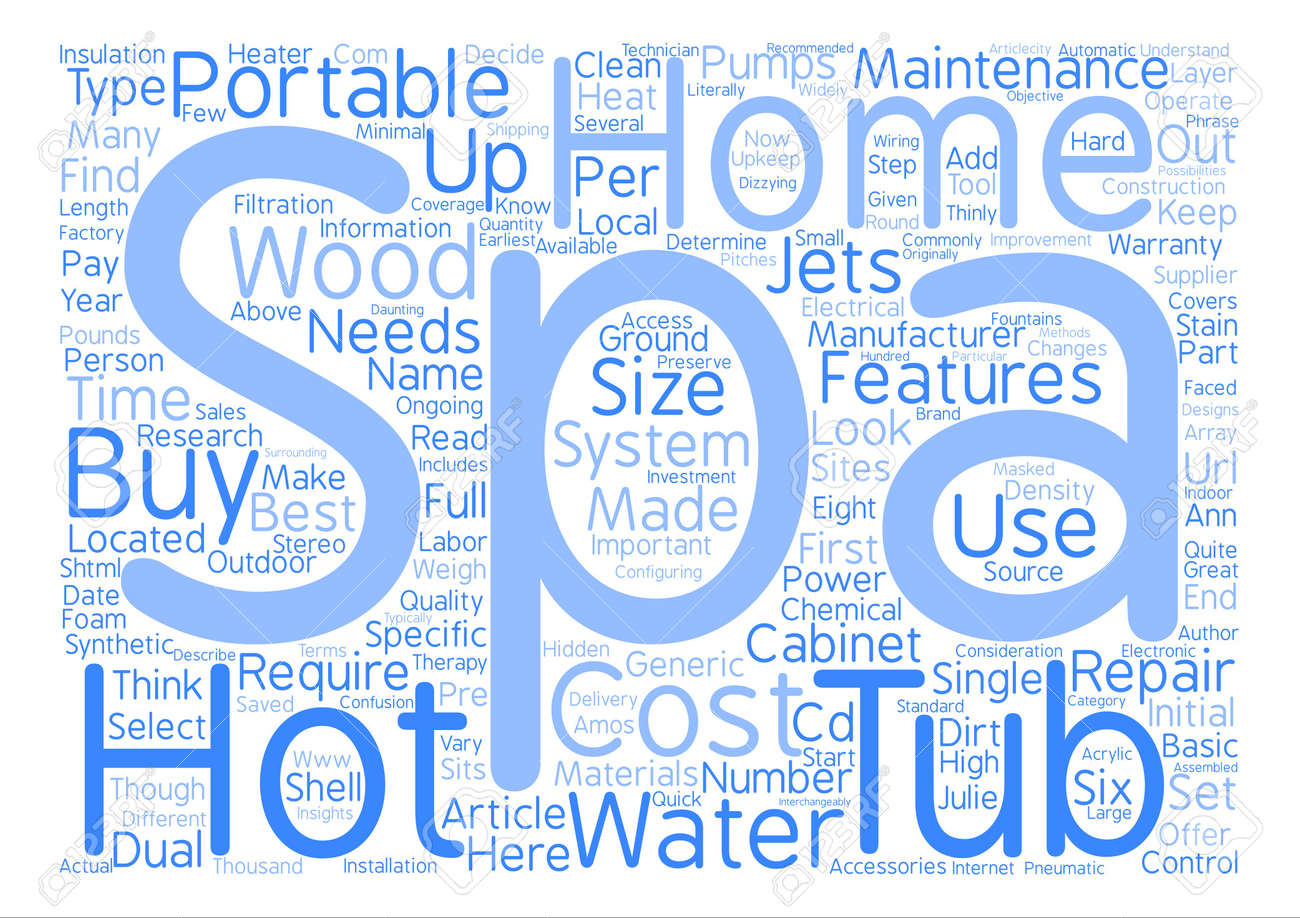 How To Buy A Portable Hot Tub Or Home Spa Text Background Word ...