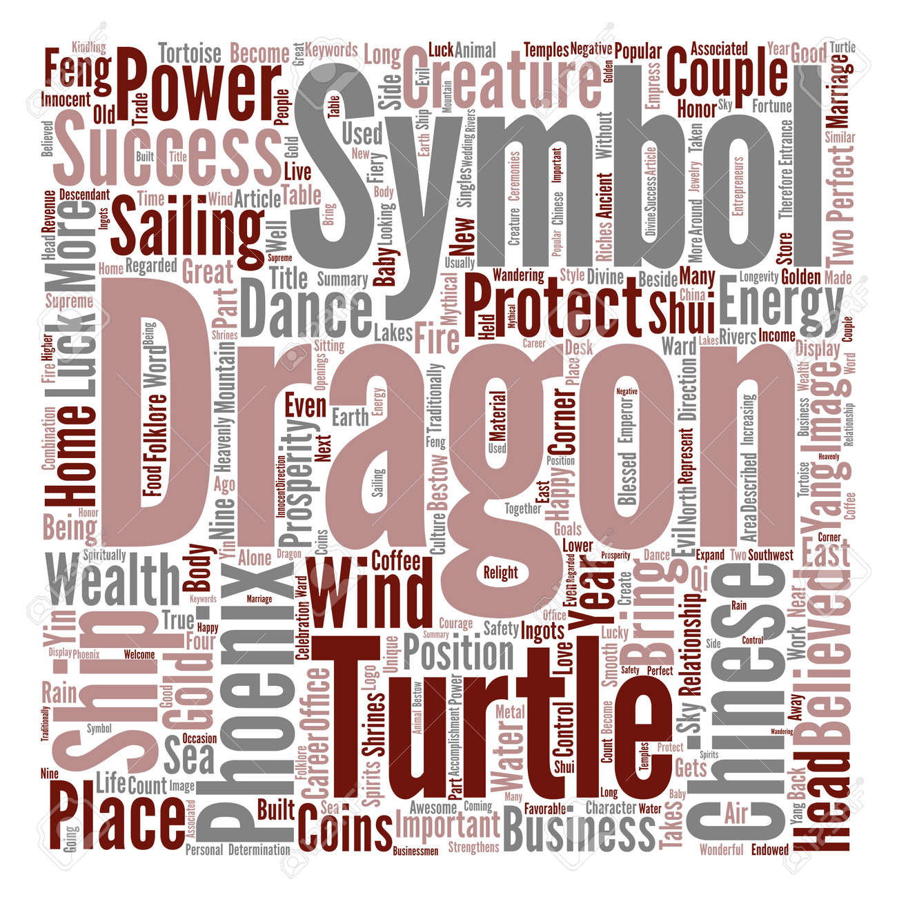 Chinese good luck symbols part power of chinese dragons text chinese good luck symbols part power of chinese dragons text background word cloud concept stock vector buycottarizona Images