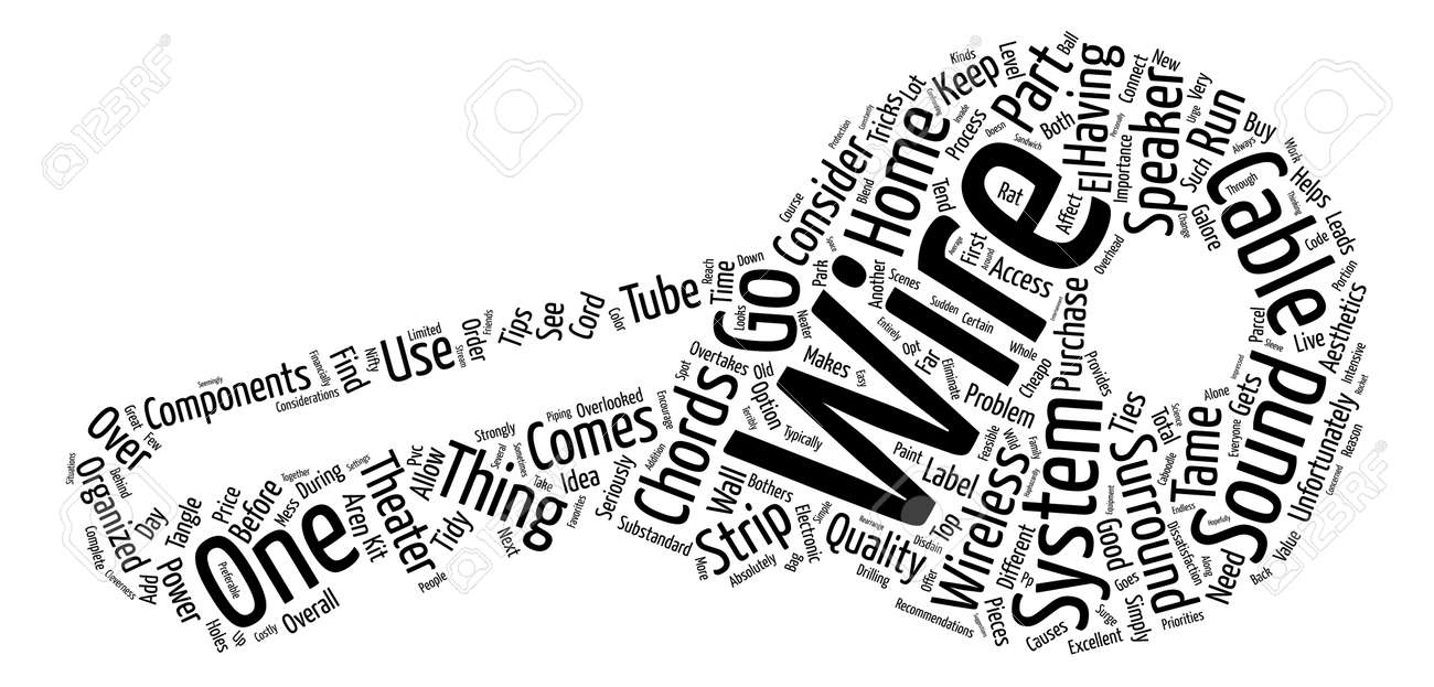 Cables Wires And Chords Galore Word Cloud Concept Text Background ...
