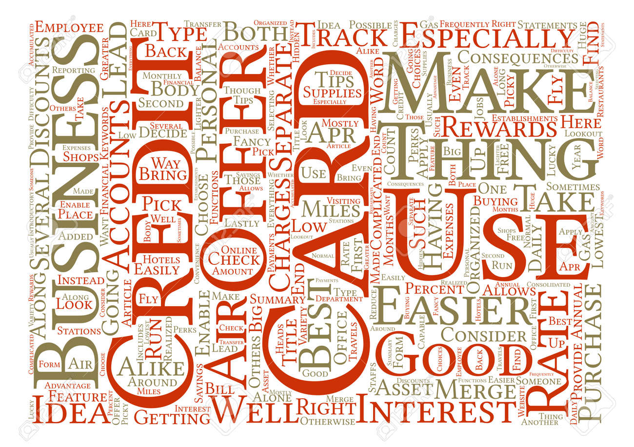 Check The Best Business Credit Card For You Word Cloud Concept ...