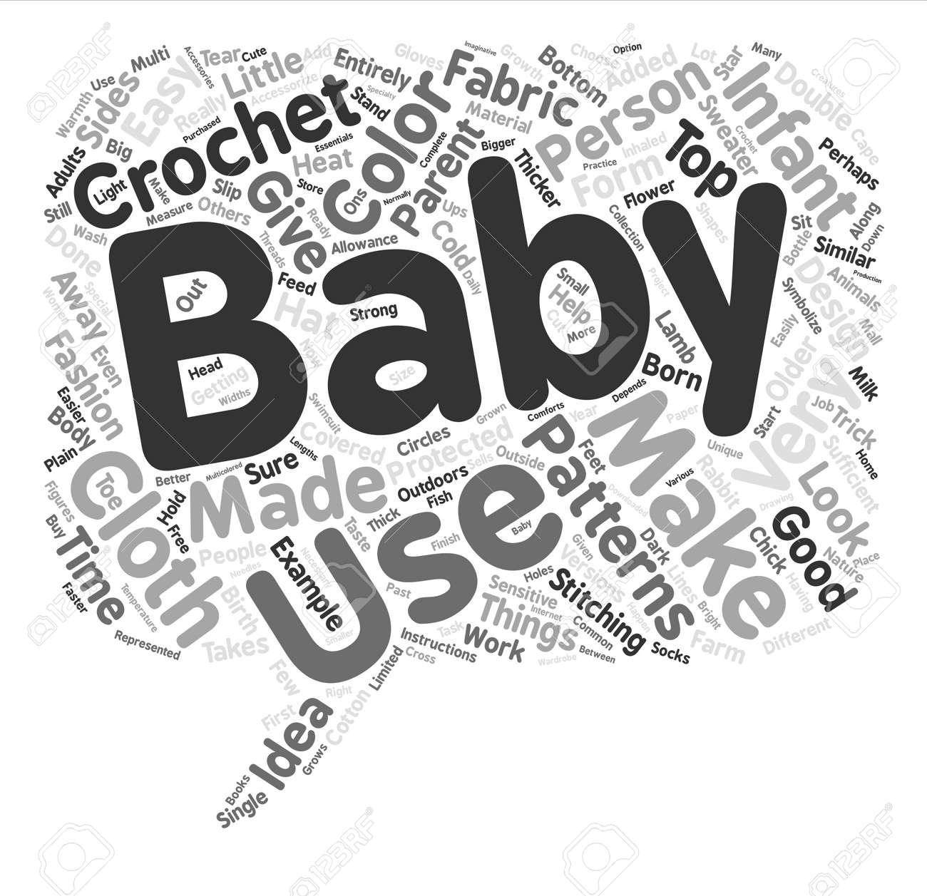 Patrones De Bebé De Ganchillo Fondo De Texto De Palabra Concepto De ...