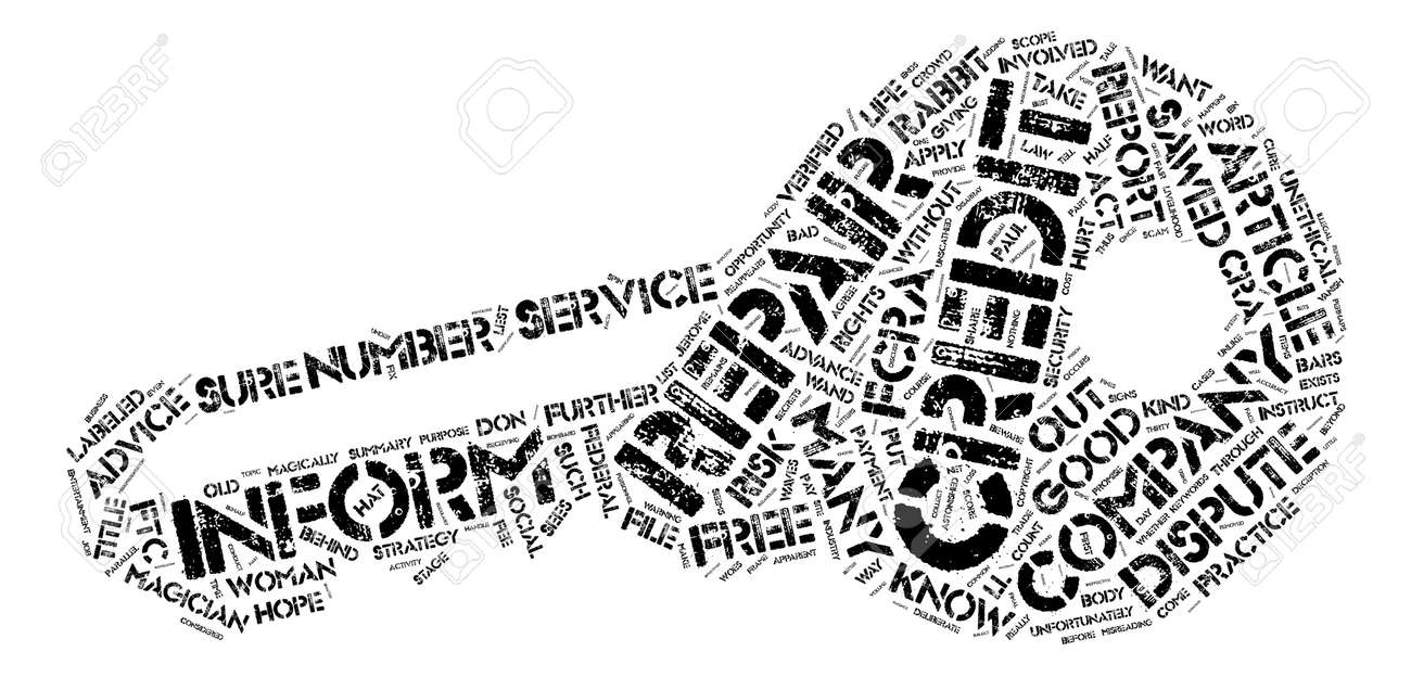 Credit Repair What You Don t Know CAN Hurt You Word Cloud Concept Text Background - 73995887