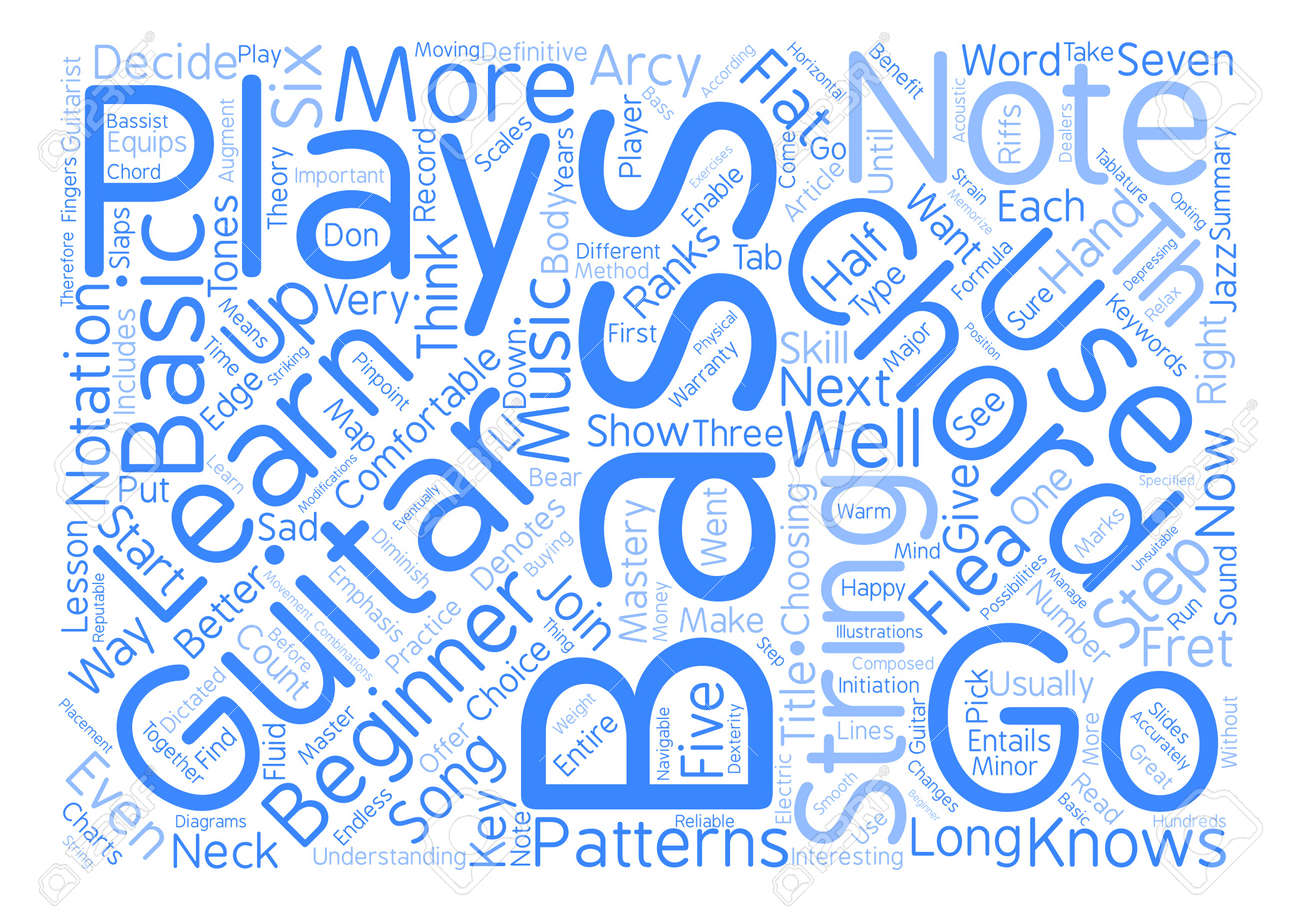 Be One With Your Bass Guitar Chords Word Cloud Concept Text