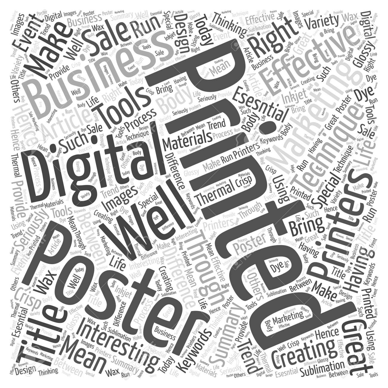 make your business interesting through posters word cloud concept