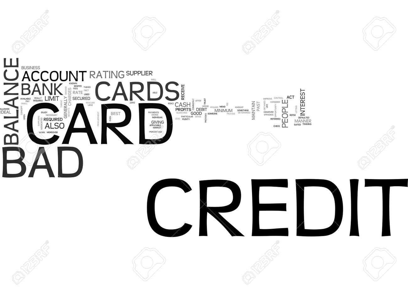 Bad Credit Credit Cards >> A Bad Credit Credit Card Text Word Cloud Concept