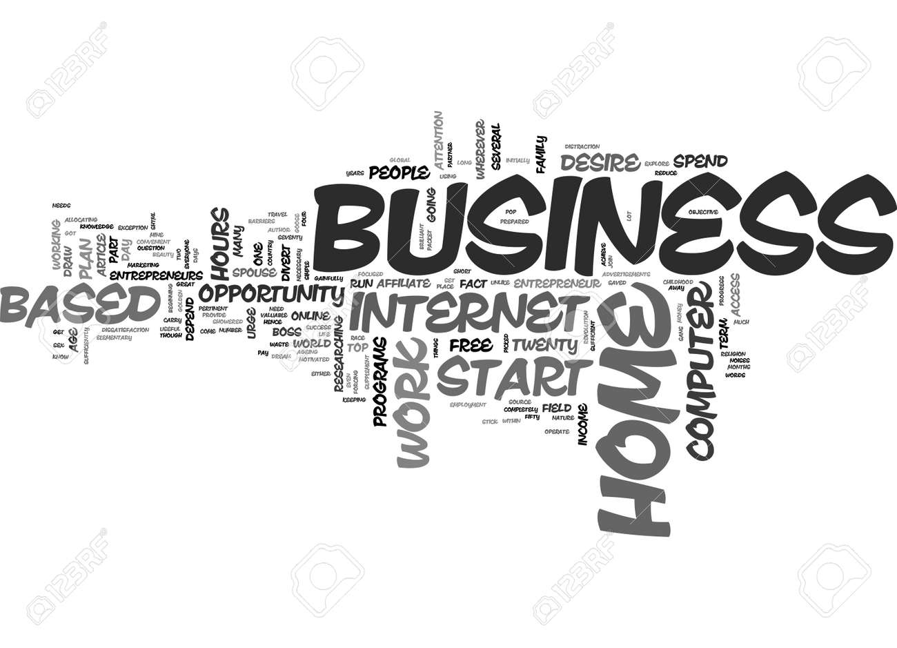 A HOME BASED BUSINESS WHO WHY WHEN AND WHERE TO START TEXT WORD ...