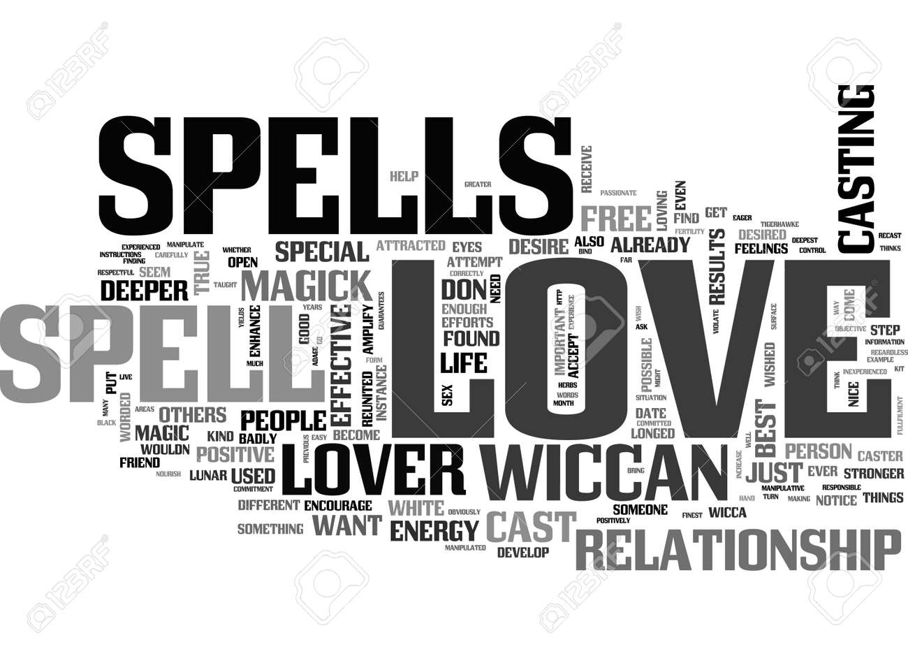 A LOVE SPELL COULD PUT SOME MAGIC IN YOUR LOVE LIFE TEXT WORD