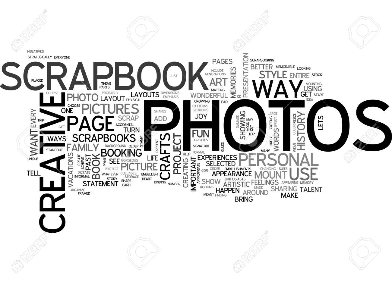 A Scrapbook Crafts Up Better Memories Text Word Cloud Concept Royalty Free Cliparts Vectors And Stock Illustration Image 79504747