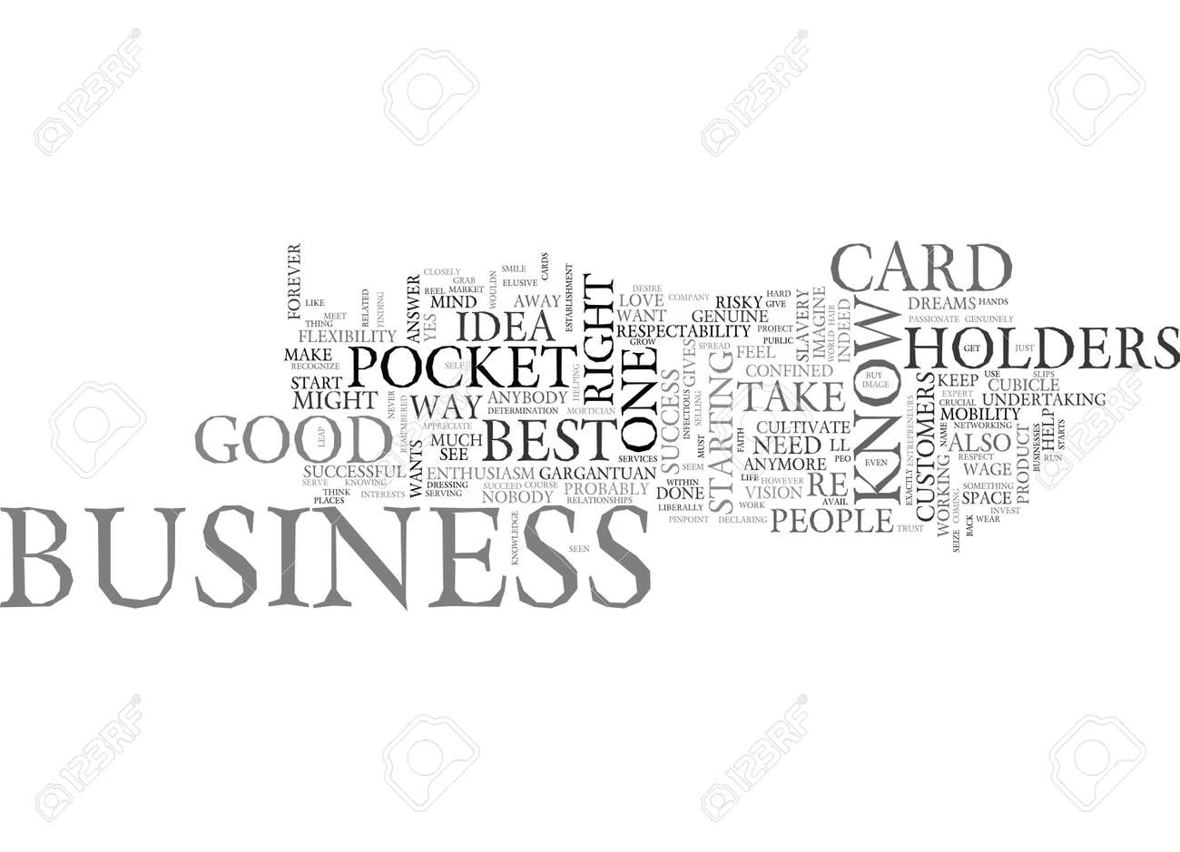 Be on your way to success with pocket business card holders text be on your way to success with pocket business card holders text word cloud concept stock reheart Choice Image