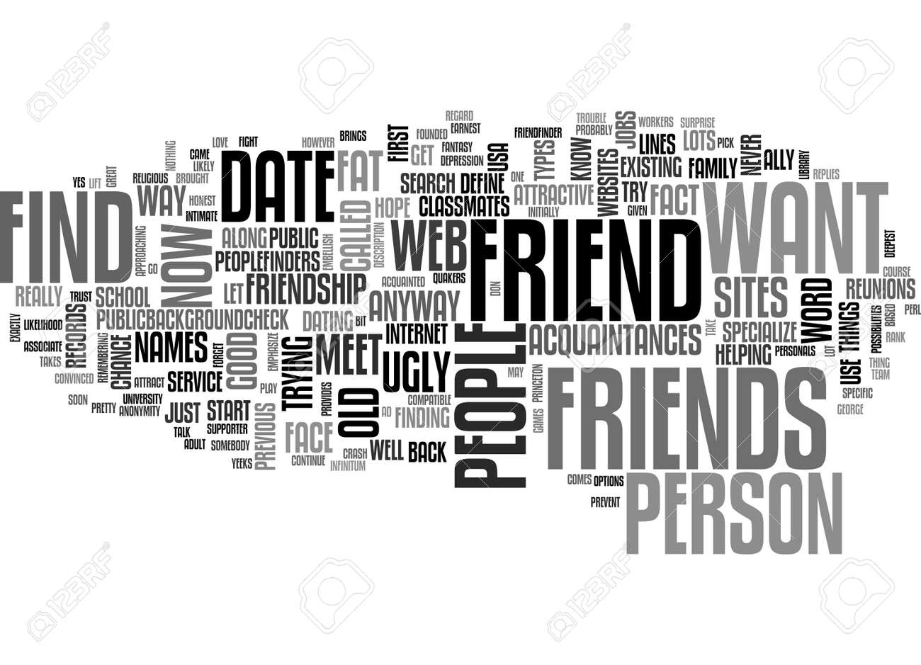 adult friendfinder the good the bad and the ugly text word cloud