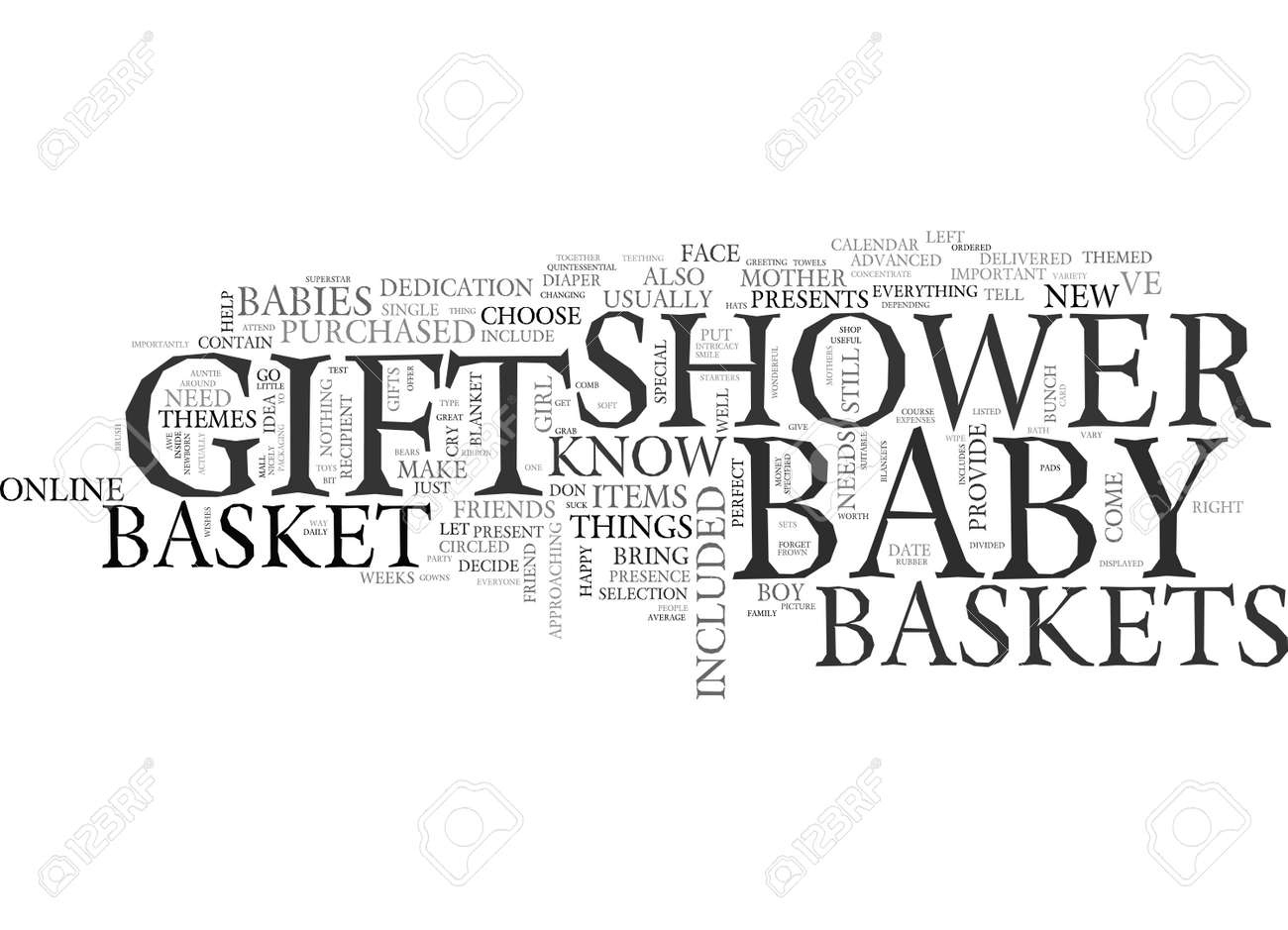 baby shower gift baskets gifts for the perfect shower text word